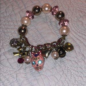 Sugar skull betsey Johnson bracelet